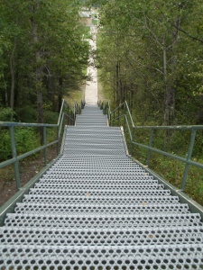 Steps leading to school.